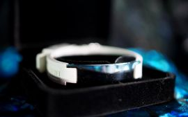 Bio Band - White with silver